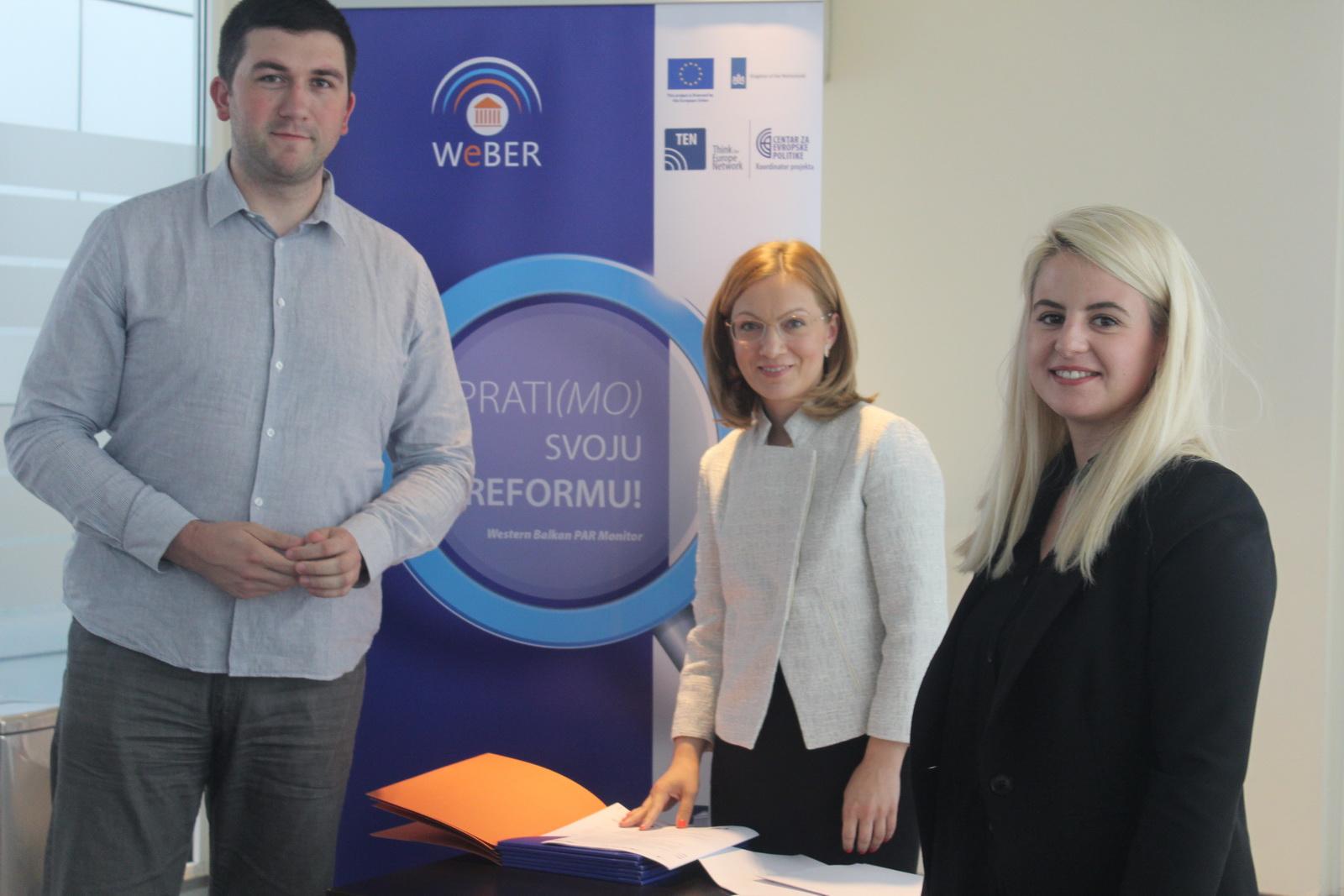Potpisivanje ugovora za WeBER projekat